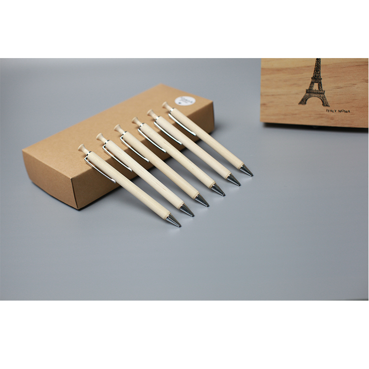 high quality cheap custom logo promotional gift bamboo pen with stylus yiwu pen