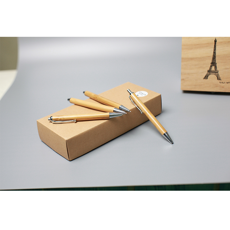 Individuality wholesale promotional custom logo bamboo pen fountain pen business and school supply yiwu pen
