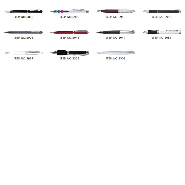 High quality matt colored custom printed metal ball pens yiwu pen